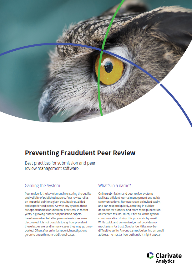 Preventing Fraudulent Peer Review Case Study Preview